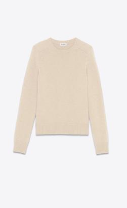 Saint Laurent Cashmere Sweater Natural M