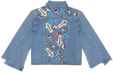 MiH Jeans Arch Denim Jacket Customised By Nicole Huisman
