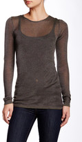 Inhabit Metallic Crew Neck Pullover Tee