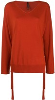 Pierantonio Gaspari Pierantoniogaspari side lace detail fine knit sweater