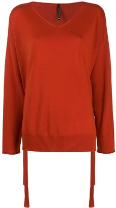Pierantonio Gaspari Side Lace Detail Fine Knit Sweater