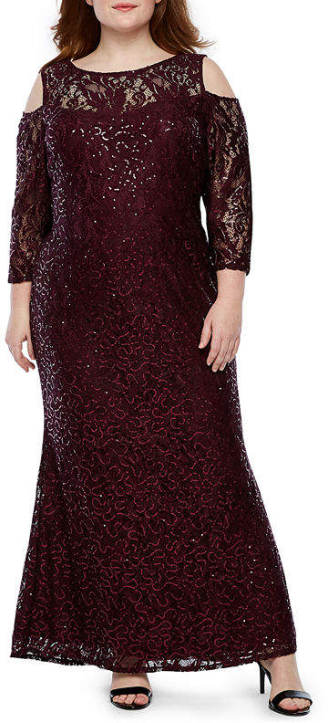 58b969354b8 Plus Size Lace Dress With Sleeves - ShopStyle