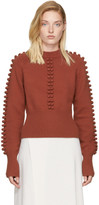 Chloé Red Pom Pom Sweater