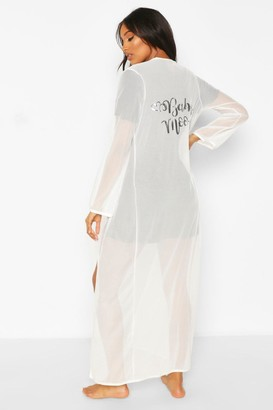 boohoo Maternity Babymoon dressing gown