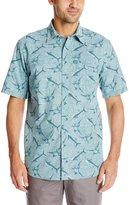 G.H. Bass Men's Short Sleeve Explorer Sportsman Marlin Printed Shirt