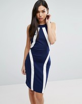Paper Dolls Illusion Paneled Dress