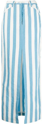 Sunnei Striped Maxi Skirt