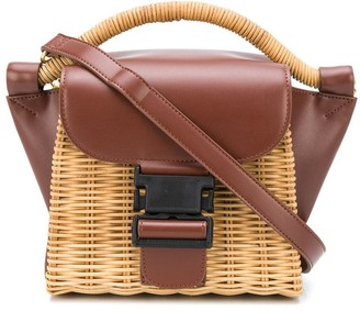 Zucca Sac small leather-panel bag