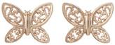 Candela 14K Yellow Gold Scroll Butterfly Stud Earrings