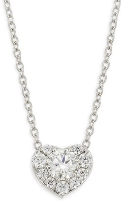 Hearts On Fire Diamond & 18K White Gold Heart Pendant Necklace