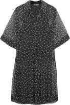 See by Chloe Printed Swiss-dot chiffon dress
