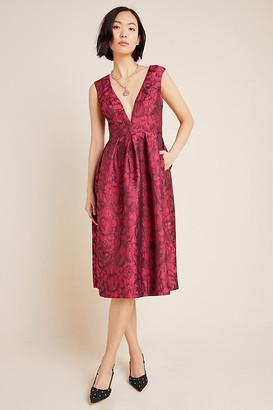 Hutch Gwyneth Jacquard Midi Dress By in Pink Size 2