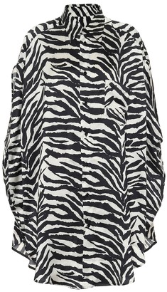 MM6 MAISON MARGIELA Oversized zebra-print shirt
