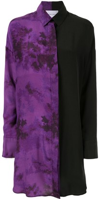 Strateas Carlucci Tie-Dye Silk Shirt Dress