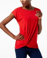 INC International Concepts Cap-Sleeve Twist-Hem Top, Created for Macy's