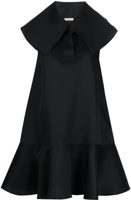 Nina Ricci Oversized Collar Dress