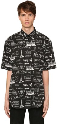 Balenciaga RESTAURANT PRINT COTTON SS SHIRT