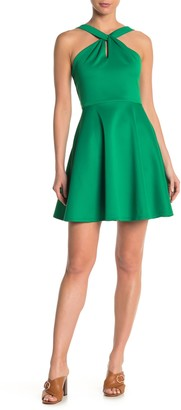 Ted Baker Freeda Twist Neck Skater Dress
