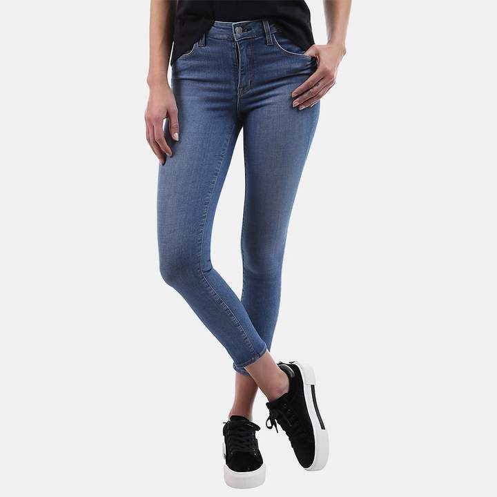 L'Agence Margot High-Rise Crop Skinny Jean in Light Vintage