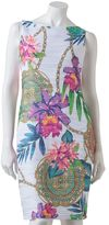 JLO by Jennifer Lopez floral pintuck sheath dress