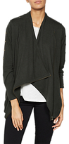 Mint Velvet Stud Sleeve Cardigan, Dark Green