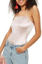 Topshop Square Neck Velvet Bodysuit
