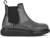Alexander McQueen Black studded leather Chelsea boots