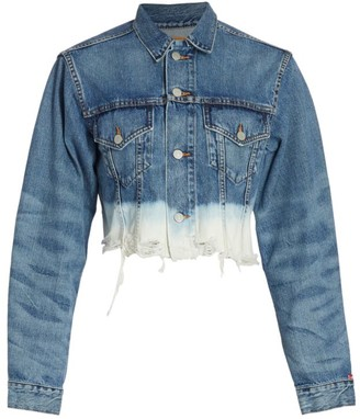 Denimist Agnes Oversized Dip-Dye Denim Trucker Jacket