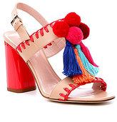 Kate Spade Central Tassled Pom Pom Dress Sandals