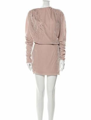 Magda Butrym Bateau Neckline Mini Dress Pink