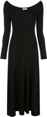 Rosetta Getty open V-neck dress