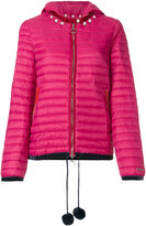 Twin-Set short puffer with hood - women - Polyamide/Polyester - 42