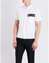 Versus Zip-detail Stretch-cotton Shirt