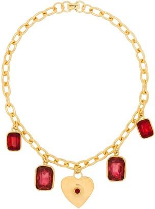MONDO MONDO Heart-Charm Crystal Necklace