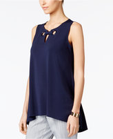 Alfani Grommet-Detail Keyhole Top, Only at Macy's