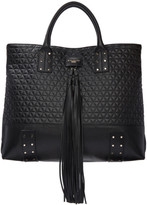 Balmain Black Quilted Domaine Shopping Tote