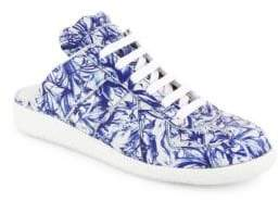 Maison Margiela Floral Leather Sneaker Slides