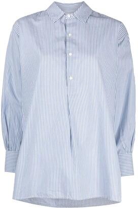 Nili Lotan Stripe-Print Classic-Collar Shirt