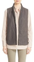 Lafayette 148 New York Women's 'Kaelyn' Lambskin Leather Combo Vest