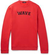 Raf Simons Printed Fleece-Back Cotton-Jersey Sweatshirt