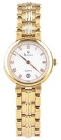 Bulova Stainless Steel Gold-Plated Quartz With Original Band & Date Feature 25mm Watch