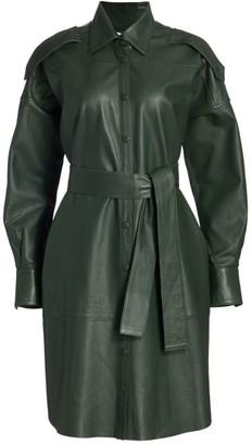REMAIN Birger Christensen Lavare Tie Leather Dress