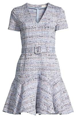 Shoshanna Mallorie Tweed Flounce Dress