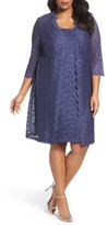 Alex Evenings Plus Size Women's Lace Jacket Dress