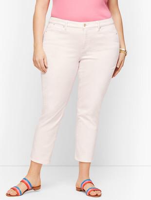 Talbots Straight Leg Crop Jeans - Garment Dyed Pink Salt