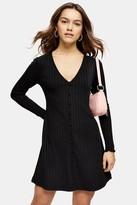 Topshop PETITE Plain Black Cardigan Flippy Dress
