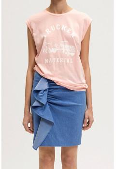 Designers Remix Pink Cotton Travis Tee - S . | cotton | pink - Pink/Pink