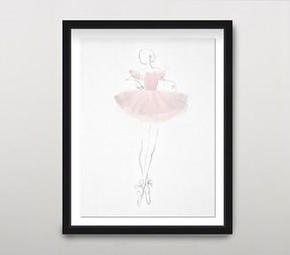 Pottery Barn Kids La Ballerina I Wall Art