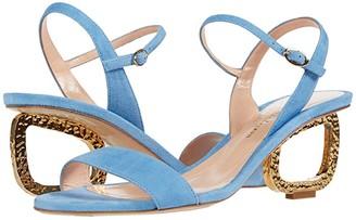 Rupert Sanderson Silhouette Suede (Paraiba Blue) Women's Shoes