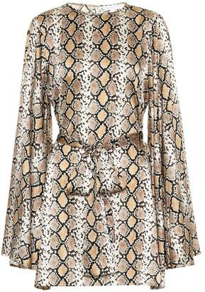 Caroline Constas Anya silk-blend satin dress